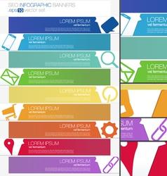 Progress SEO Infographics banner set vector image