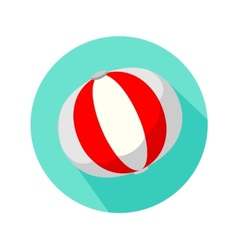 Red and white beach ball isolated vector image