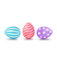 3d easters eggs vector image