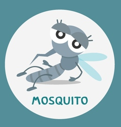 A cartoon mosquito vector
