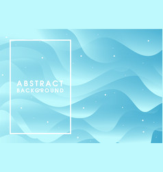 Abstract blue flowing background vector
