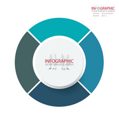abstract element infographics 4 option design for vector image