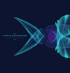 Abstract particle fish shape vector