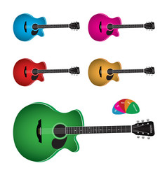 Acoustic guitar image vector