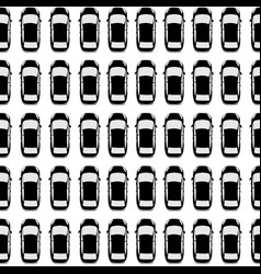 aerial view parking with lots of black cars vector image
