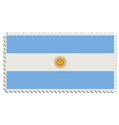 Argentinian flag stamp vector image