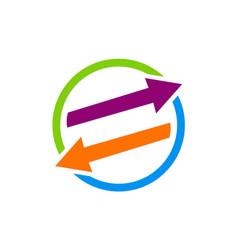 arrow exchange colored logo vector image