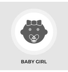 Bagirl flat icon vector