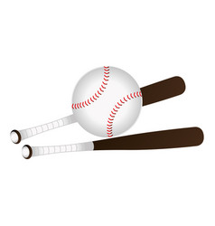 baseball sport equipment emblem icon vector image