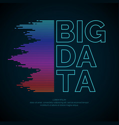 big data concept poster with visualization vector image