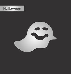 black and white style icon halloween ghost vector image