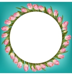 Bouquet of pink tulips EPS 10 vector image