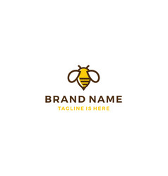 bumble bee honey hive logo template vector image