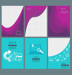 Business brochure covers company annual report vector