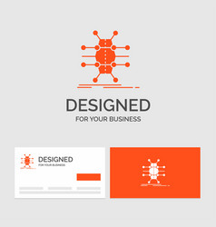 Business logo template for distribution grid vector