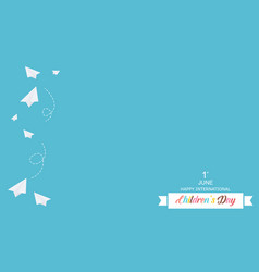 Card style for childrens day vector