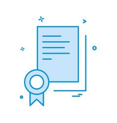 certificate icon design vector image
