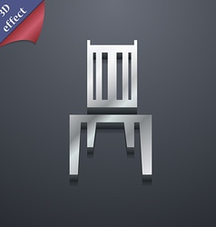 chair icon symbol 3D style Trendy modern design vector image