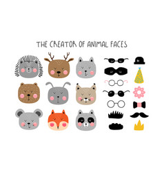 Creator of animals in the scandinavian style vector