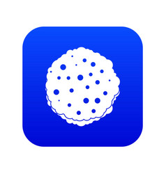 cutlets icon digital blue vector image
