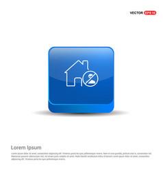 Do not enter icon - 3d blue button vector