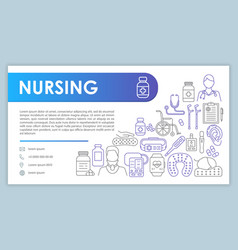 Elderly care web banner business card template vector