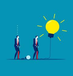 Extending ideas concept business vector