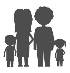 family icon in flat style isolated parents and vector image