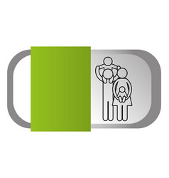 family pictogram cartoon vector image