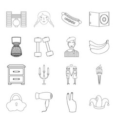 Fishing furniture hairdresser and other web icon vector