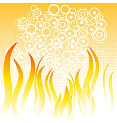 Flame background vector image
