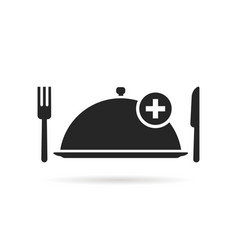 food ordering with black tray vector image