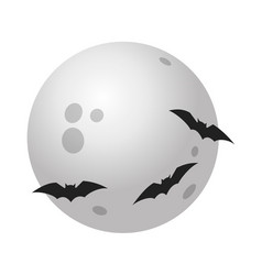full halloween moon icon isometric style vector image