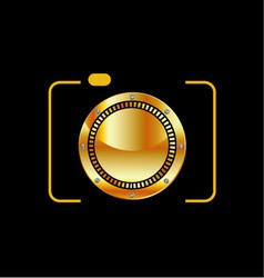 Golden digital camera vector image vector image