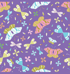 graphic large scale butterflies seamless vector image