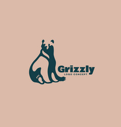 grizzly bear logo vector image