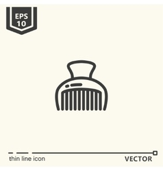Hairdressing tools Icons series Hairpin vector image