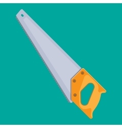 Hand saw with hardened teeth vector image