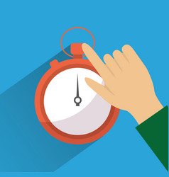 Hand touch stopwatch clock time vector