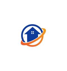 home logo building vector image