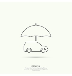 Icon of the car vector image