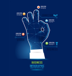 infographics success hand business concept design vector image