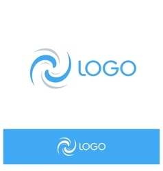 Isolated abstract blue logo Spinning conditioning vector