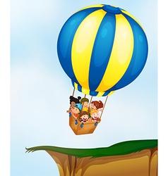 Kids in balloon vector