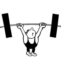 Man lifting weights vector