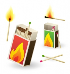 matchboxes vector image
