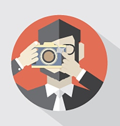 Modern Flat Design Camera Man vector image