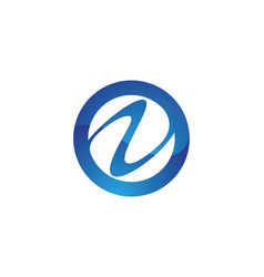 N letter wave logo template vector