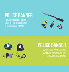 Police logos and banners vector