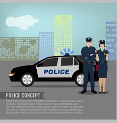 Police patrol image vector